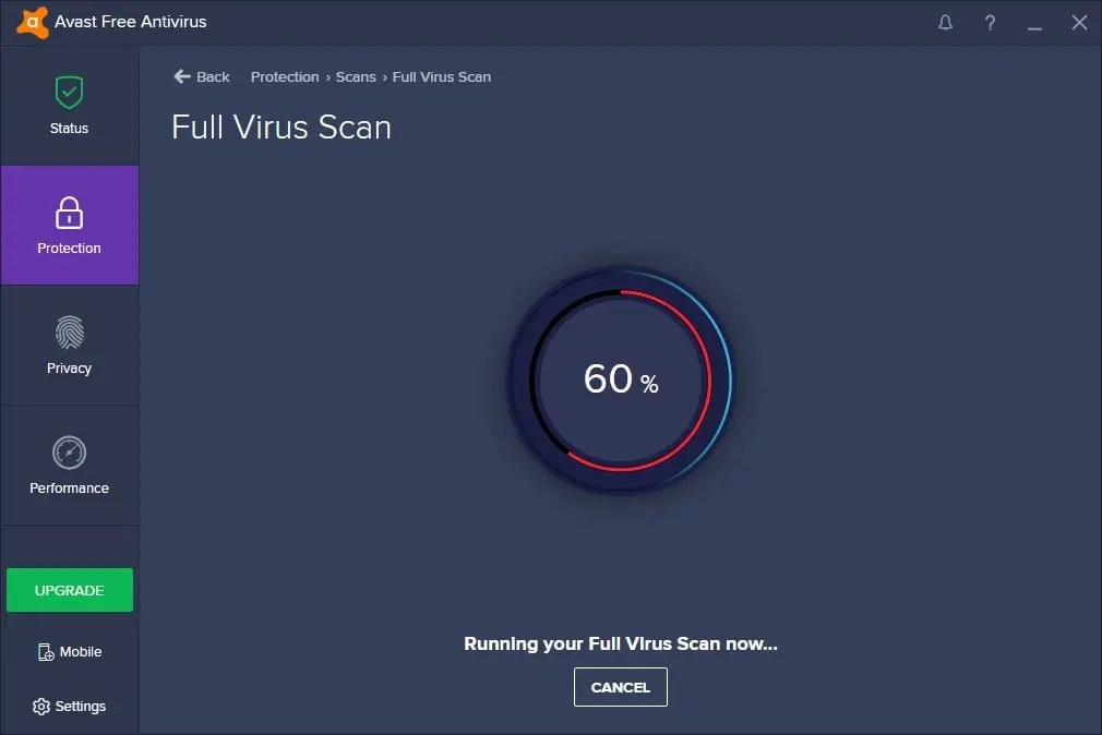 avast schedule boot time scan command line