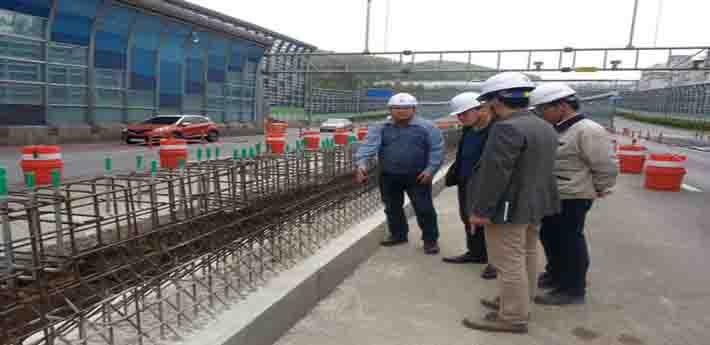 (사진=성남시청) 국지도 57호선 우회도로 소음저감시설 설치 공사 현장
