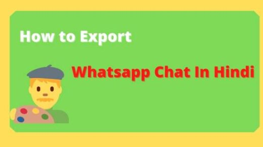 How to export WhatsApp chat in hindi