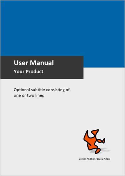 Template For User Manuals Sample Pages Examples