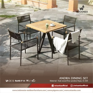 Andra Outdoor Dining Set