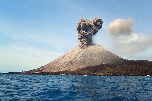 Mount Krakatau In Lampung