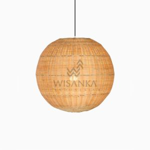 Taban Ball Hanging Lamp - Natural Rattan Hanging Lamp on