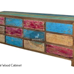 Sharon Boat Wood Cabinet