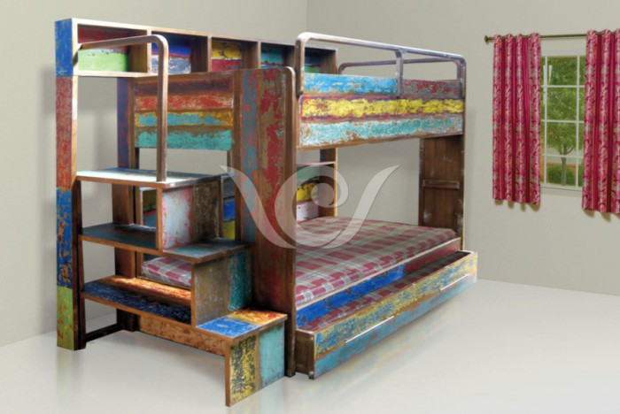 Chielo Bunk Bed Indonesia Reclaimed Boat