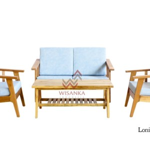 Lonia Wooden Living Set