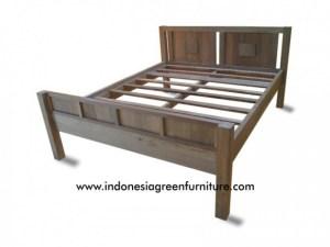 Napoleon queen size bed reclaimed teak