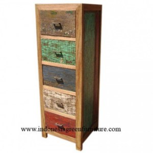 Pananjung 5 Drawer Indonesia Reclaimed Boat