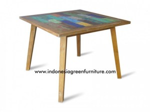 Tapanuli Square Table Indonesia Reclaimed Boat