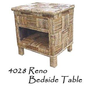 Reno Wicker Bedside Table