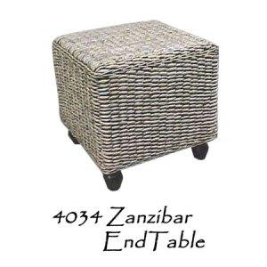 Zanzibar Wicker End Table