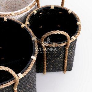 Crochet Bamboo Basket