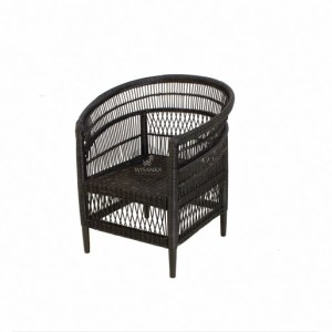 Morroco Rattan Arm Chair Black