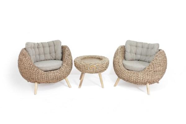 Pearl Wicker Chair Set