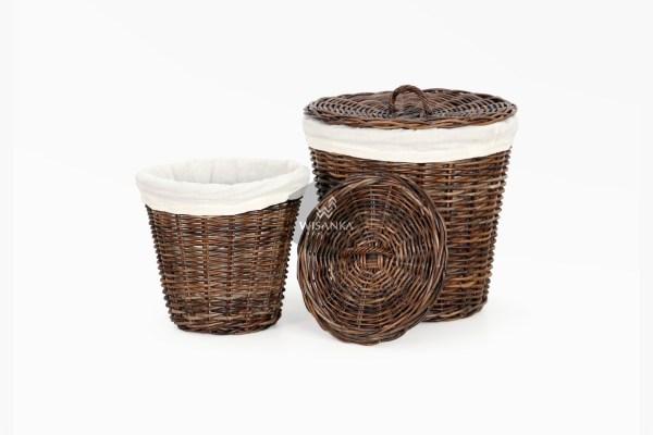 Cone Rattan Laundry Basket