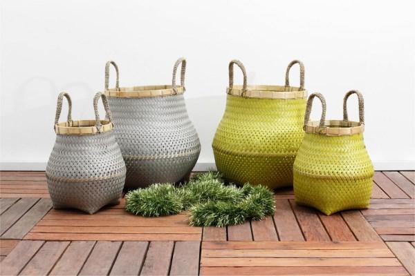 Round Gucci Dandang Rattan Basket Set of 2