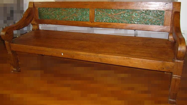 Carved Teak Wood Bench Teak Furniture