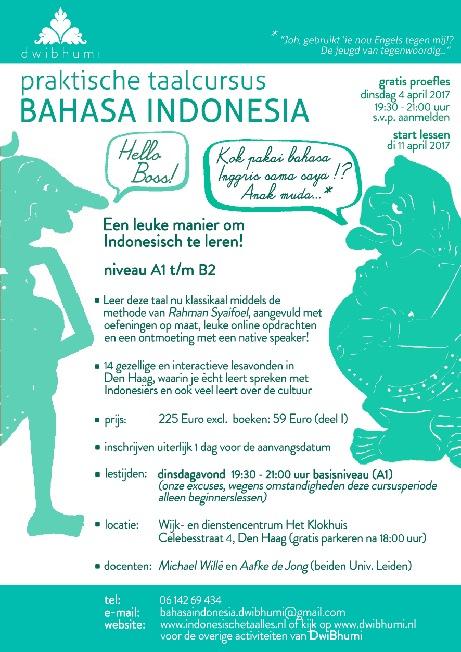 cursus bahasa indonesia den haag dwibhumi