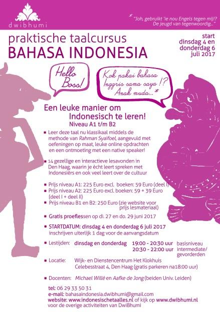 flyer bahasa indonesia dwibhumi zomercursus 2017