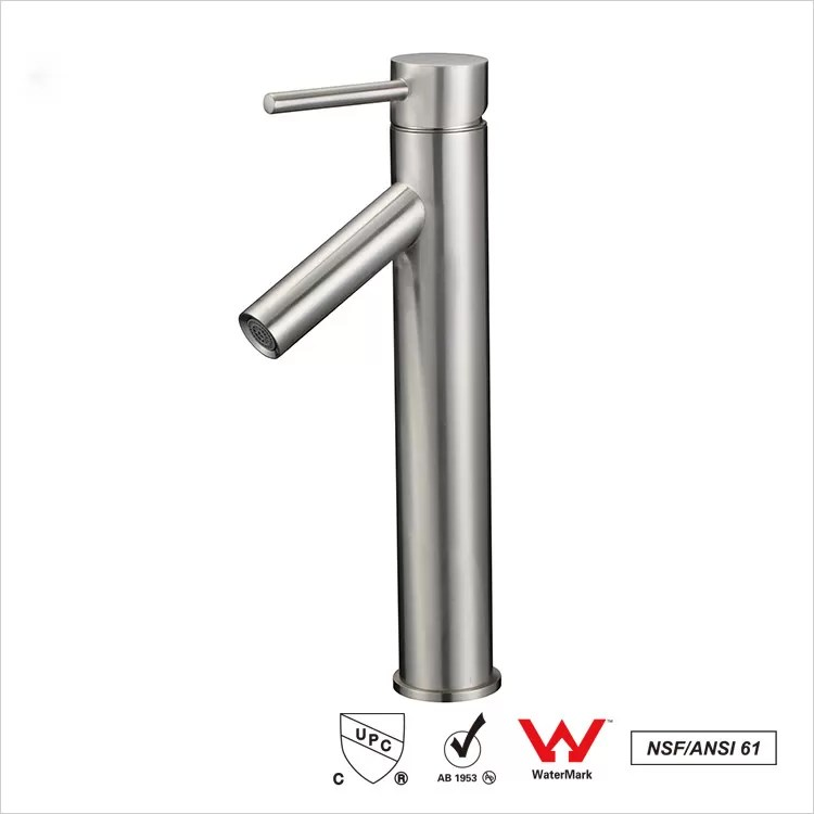 ceramic cartridge single handle sink faucets polished brass bathroom faucet