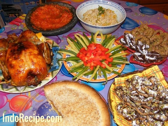 Roast Chicken, Rice Pilaf, Desserts and Side Dish!