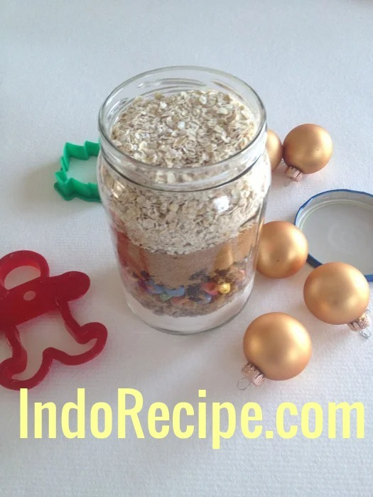 Christmas Lights Cookies in a Jar