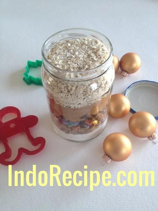 Christmas Lights Cookies in a Jar