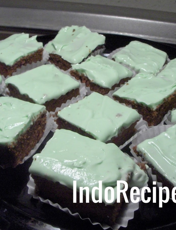 Brownies With Mint Frosting