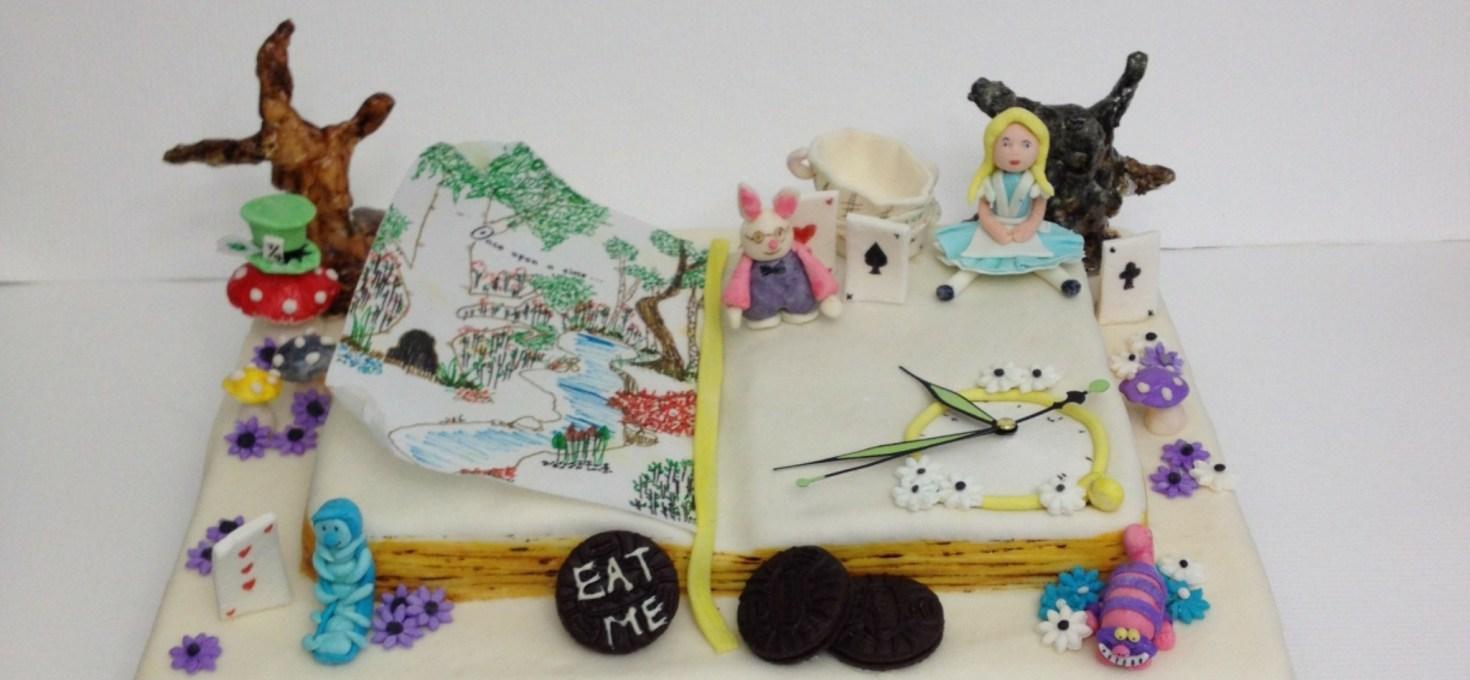 Alice in Wonderland Book Cake