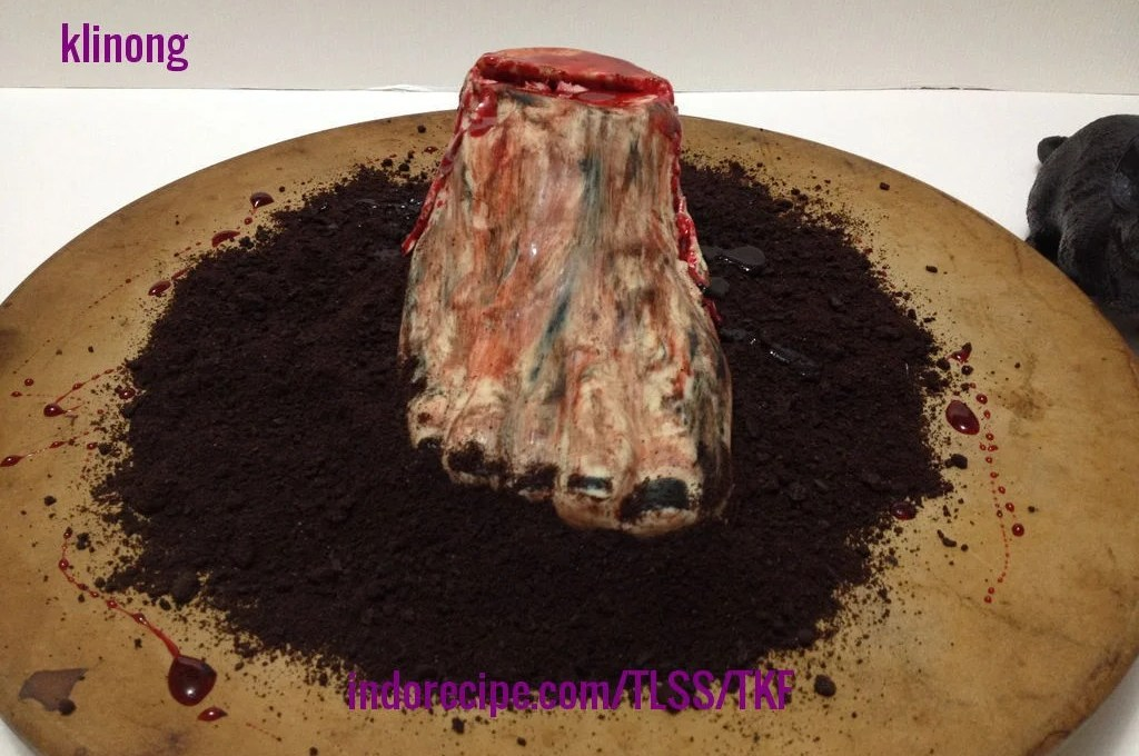 Creepy Chocolate Mousse Dessert