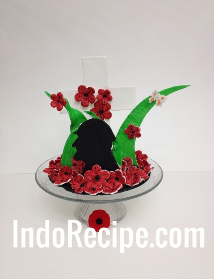 Remembrance Day Sugar Center Piece