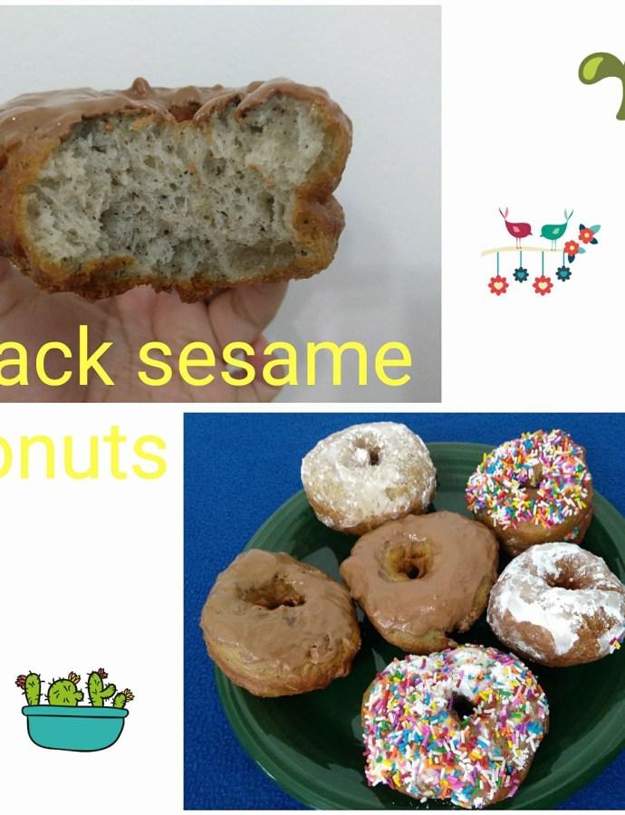 Black Sesame Donuts