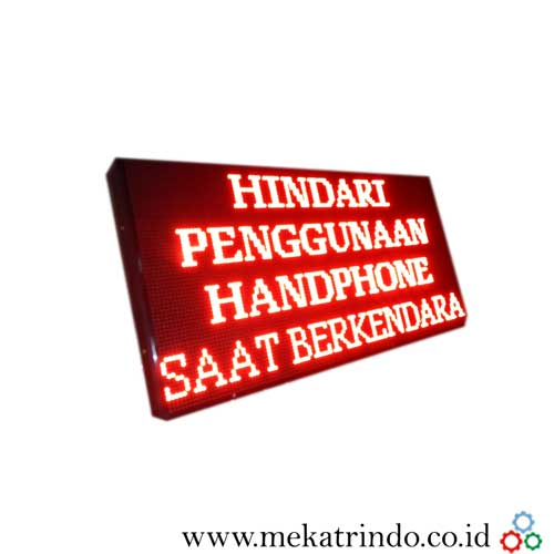 Jual Running Text - Lampu LED - Papan Informasi Digital - Mekatrindo