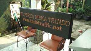 Running Text - Teks Berjalan Lalu Lintas - PT. Firza Meka Trindo - indotraffic.net