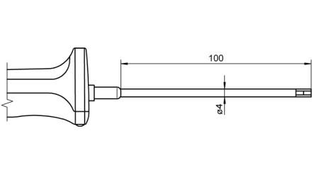 NiCr-Ni Sensor with Handle FTA1535LxxxxH