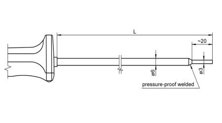 NiCr-Ni Sensor with Handle FTA1261L0xx0H