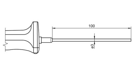 Pt100 Sensor with Handle FPA106L0100H