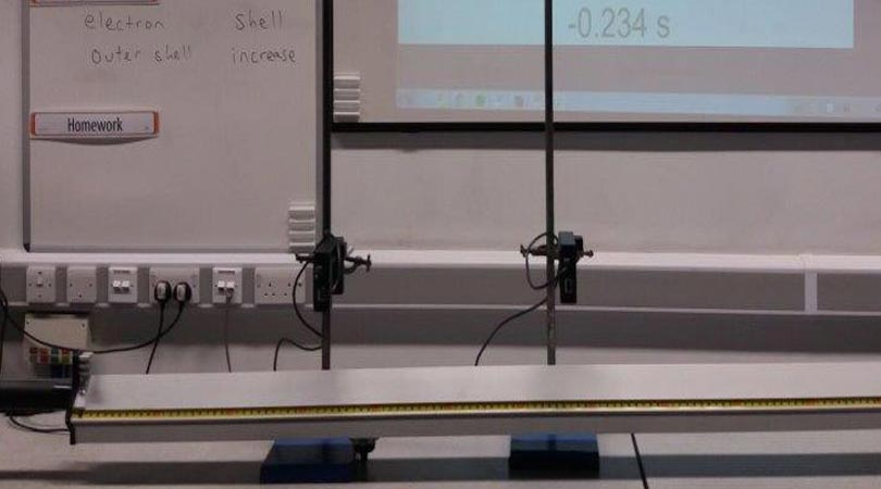Experiment Photogate Air track