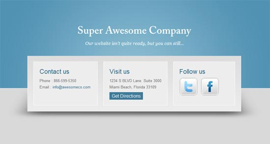 Free Coming Soon Page Template: Blue Horizons
