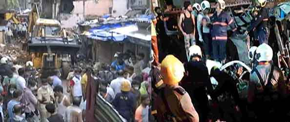 On Another In Mumbai 11 Dead, Including 8 Children one building collapses in Malwani