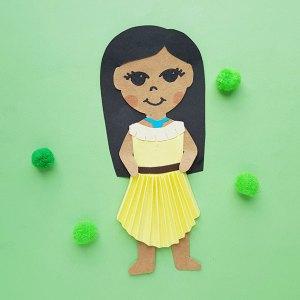 Kid's Pocahontas Papercraft Doll