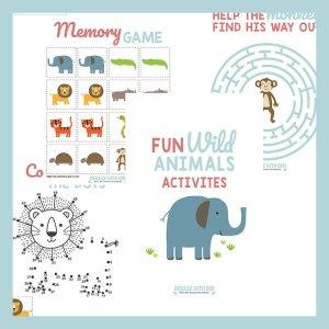 Fun Safari Animal Activities (Set 1)