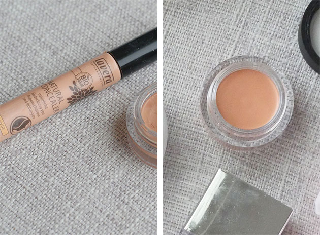 2 different types of clean concealer for fertility and pregnancy shown side by side.