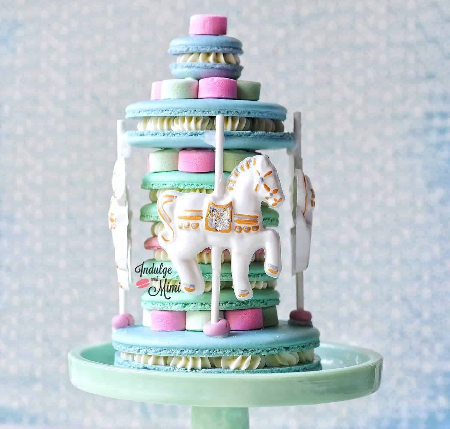 Horse Carousel Macaron Cake Collab With Silpat Mats