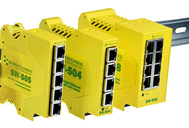 Switch Ethernet DIN compacto