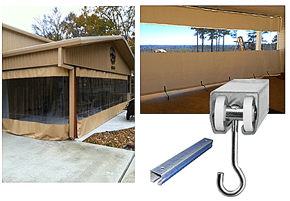 outdoor curtain track and rails