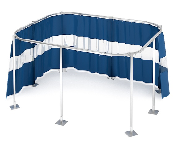 free standing portable curtain track