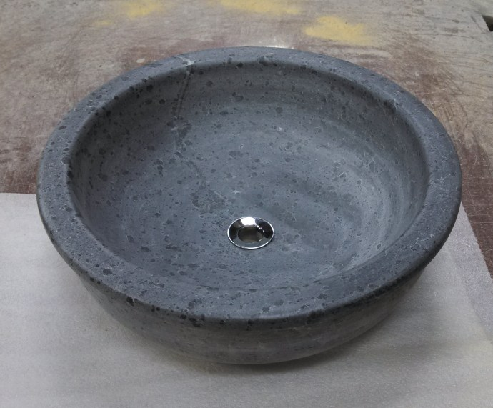 16x8 Round Soapstone Vessel
