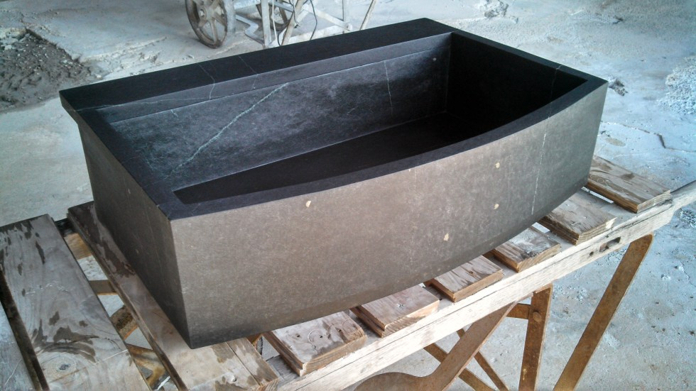 Curved Front Soapstone Farm Sink