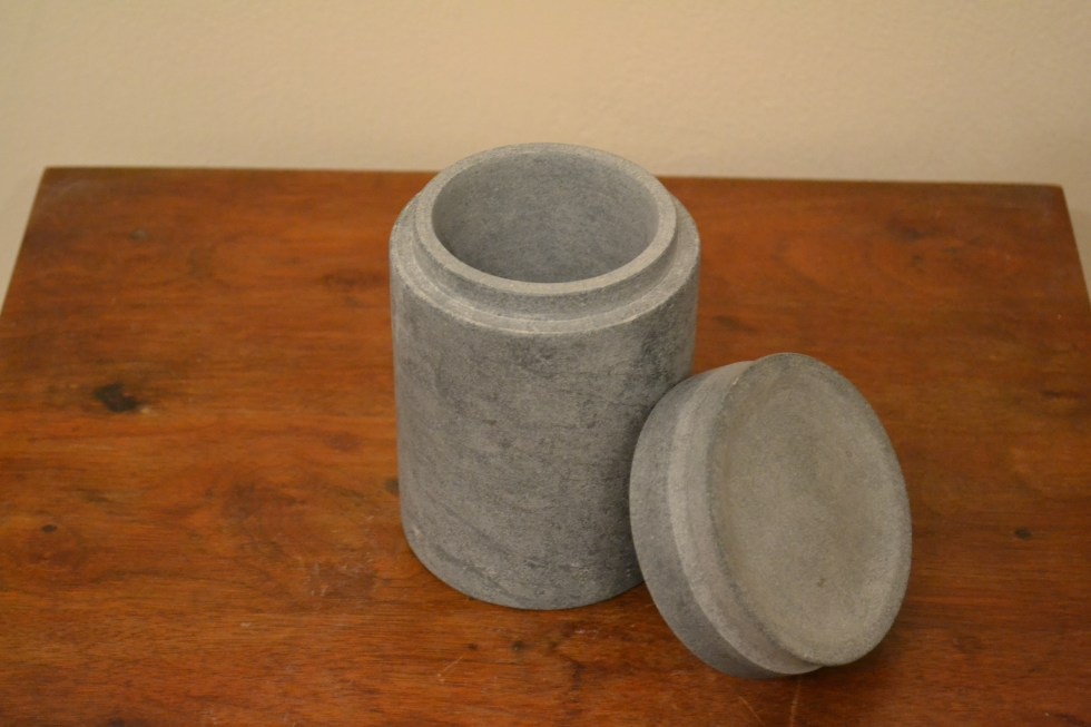 6in Soapstone Canister with lid
